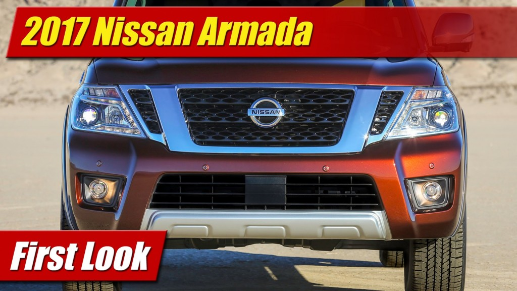 Brilliant First Look 2017 Nissan Armada  TestDrivenTV