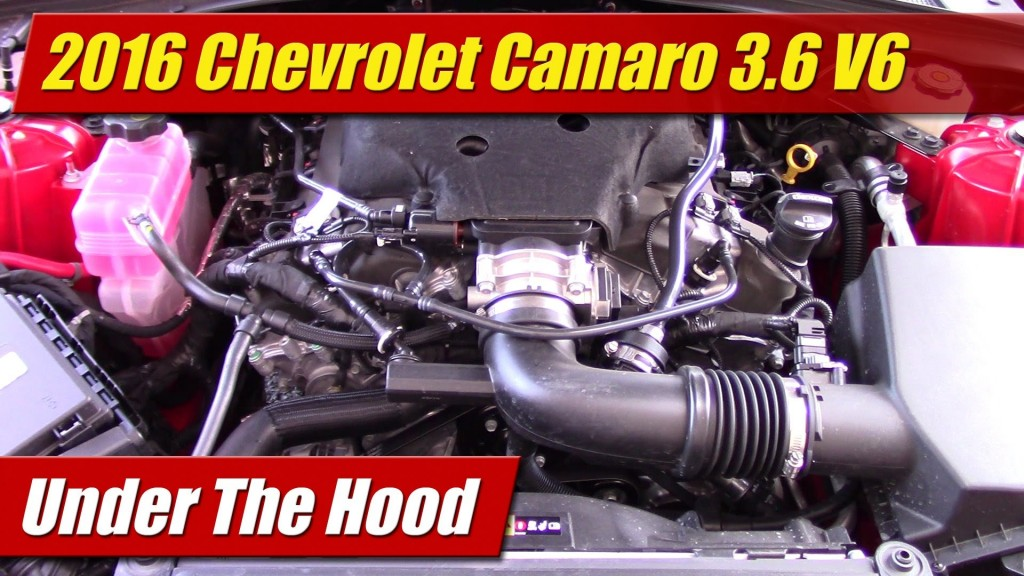 Under The Hood 2016 Chevrolet Camaro 3 6 V6 Testdriven Tv