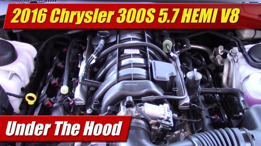 How To Check Transmission Oil >> Under The Hood: 2016 Chrysler 300S 5.7 HEMI - TestDriven.TV