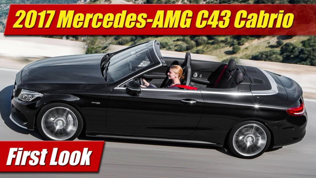 first look 2017 mercedes amg c43 cabriolet testdriven tv. Black Bedroom Furniture Sets. Home Design Ideas