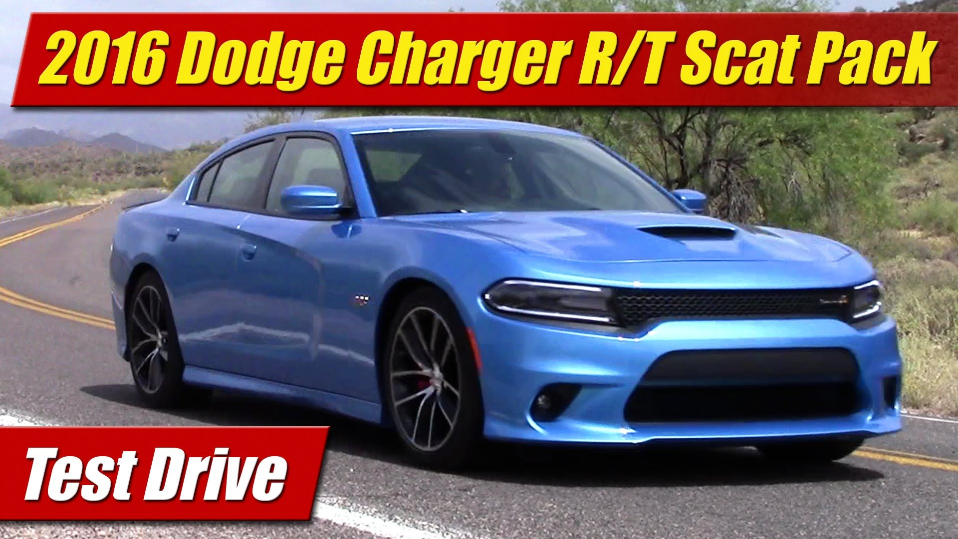 test drive 2016 dodge charger r t scat pack testdriven tv. Black Bedroom Furniture Sets. Home Design Ideas