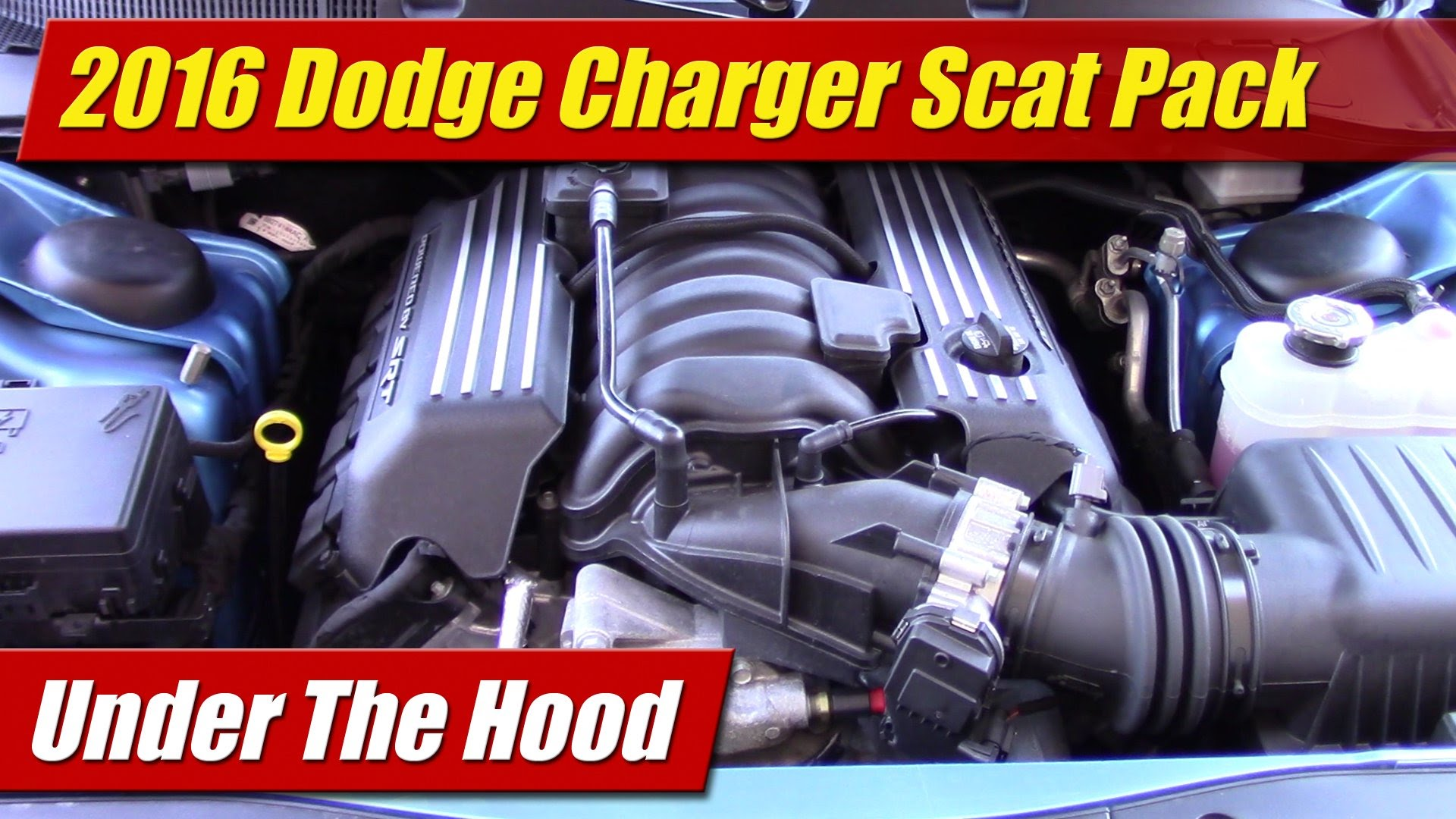 under the hood 2016 dodge charger r t scat pack testdriven tv. Black Bedroom Furniture Sets. Home Design Ideas