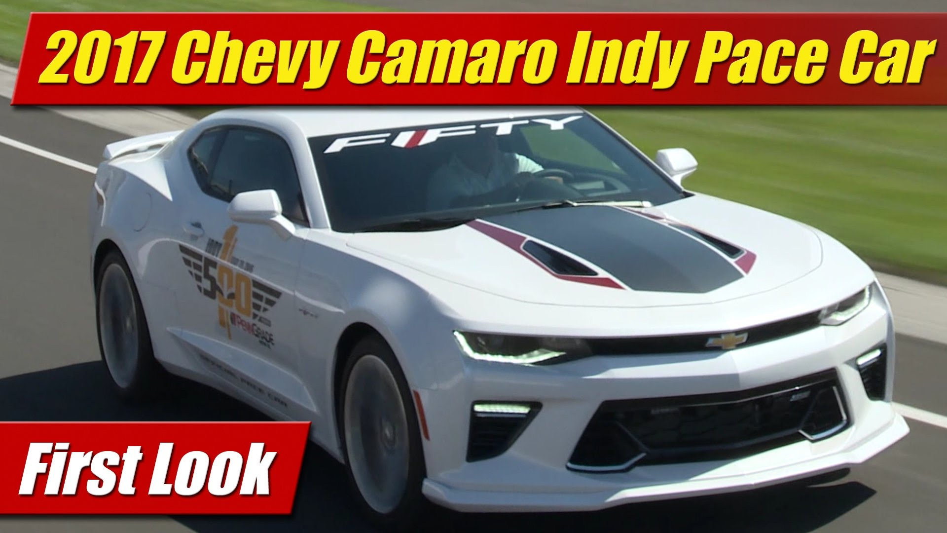 2017 Chevrolet Camaro 50th Anniversary Edition To Pace Indy 500 Testdriven Tv