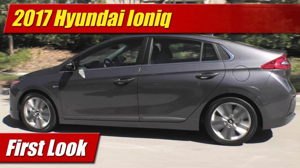 Brilliant First Look 2017 Hyundai Ioniq Hybrid Plugin And