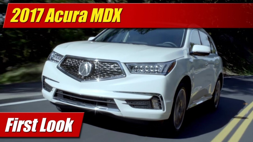 Brilliant First Look 2017 Acura MDX  TestDrivenTV