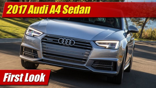 First Look: 2017 Audi A4 Sedan