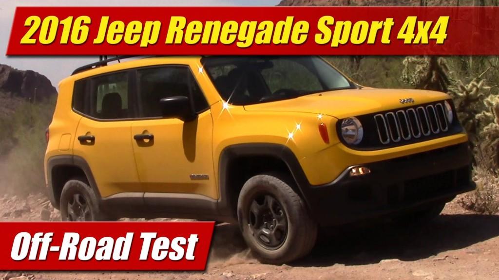 Twins Auto Sales >> Off-Road Test: 2016 Jeep Renegade Sport 4x4 - TestDriven.TV