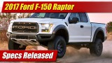 Specs Released: 2017 Ford F-150 Raptor