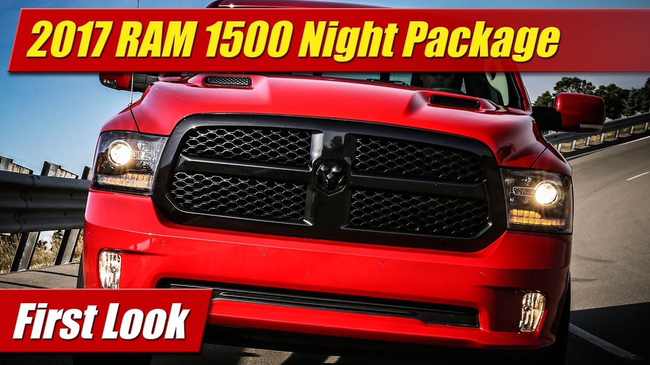 first look 2017 ram 1500 night package testdriven tv. Black Bedroom Furniture Sets. Home Design Ideas