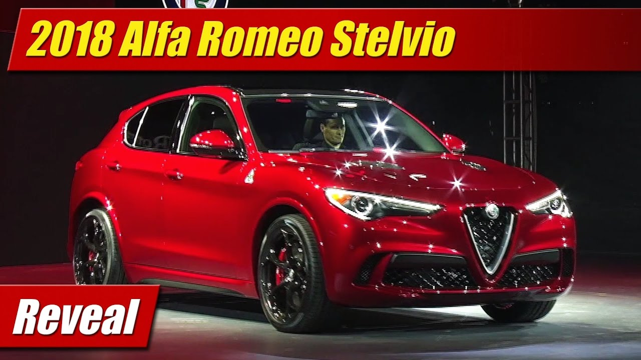 reveal 2018 alfa romeo stelvio testdriven tv. Black Bedroom Furniture Sets. Home Design Ideas