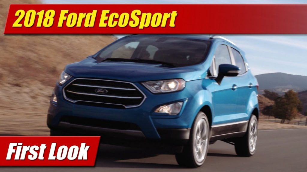 first look 2018 ford ecosport testdriven tv. Black Bedroom Furniture Sets. Home Design Ideas