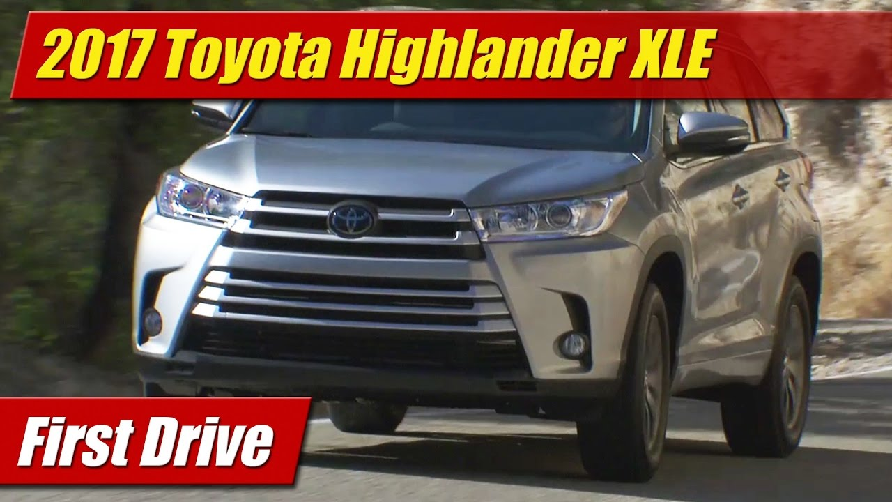 Unique First Drive 2017 Toyota Highlander XLE V6  TestDrivenTV