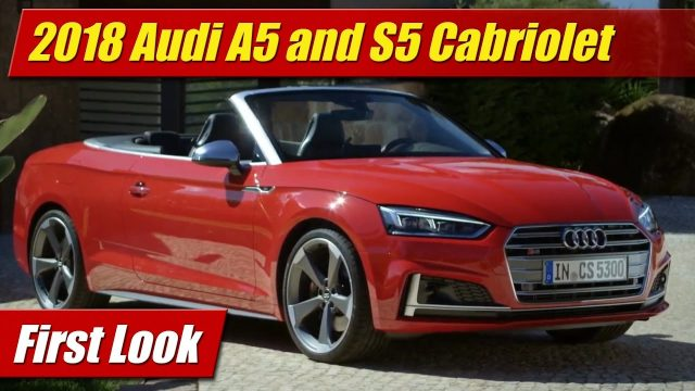 First Look: 2018 Audi A5 and S5 Cabriolet
