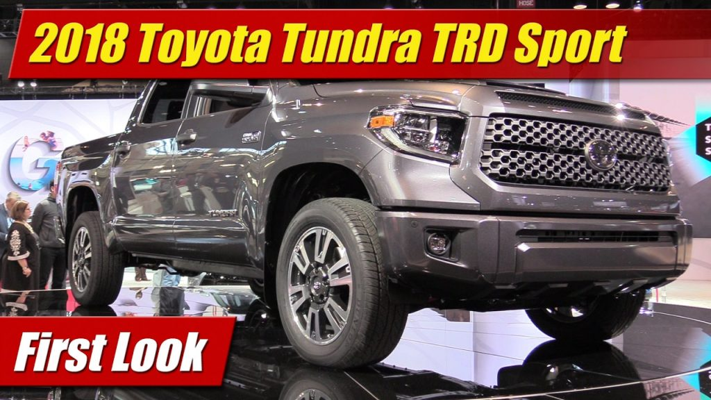 first look 2018 toyota tundra trd sport testdriven tv. Black Bedroom Furniture Sets. Home Design Ideas