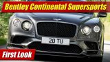 First Look: Bentley Continental Supersports