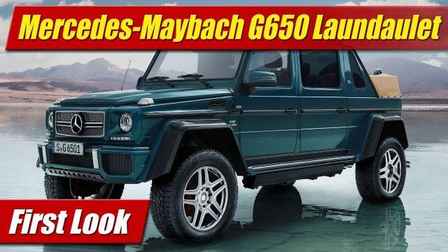 First Look: Mercedes-Maybach G 650 Landaulet