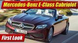 First Look: 2018 Mercedes-Benz E-Class Cabriolet