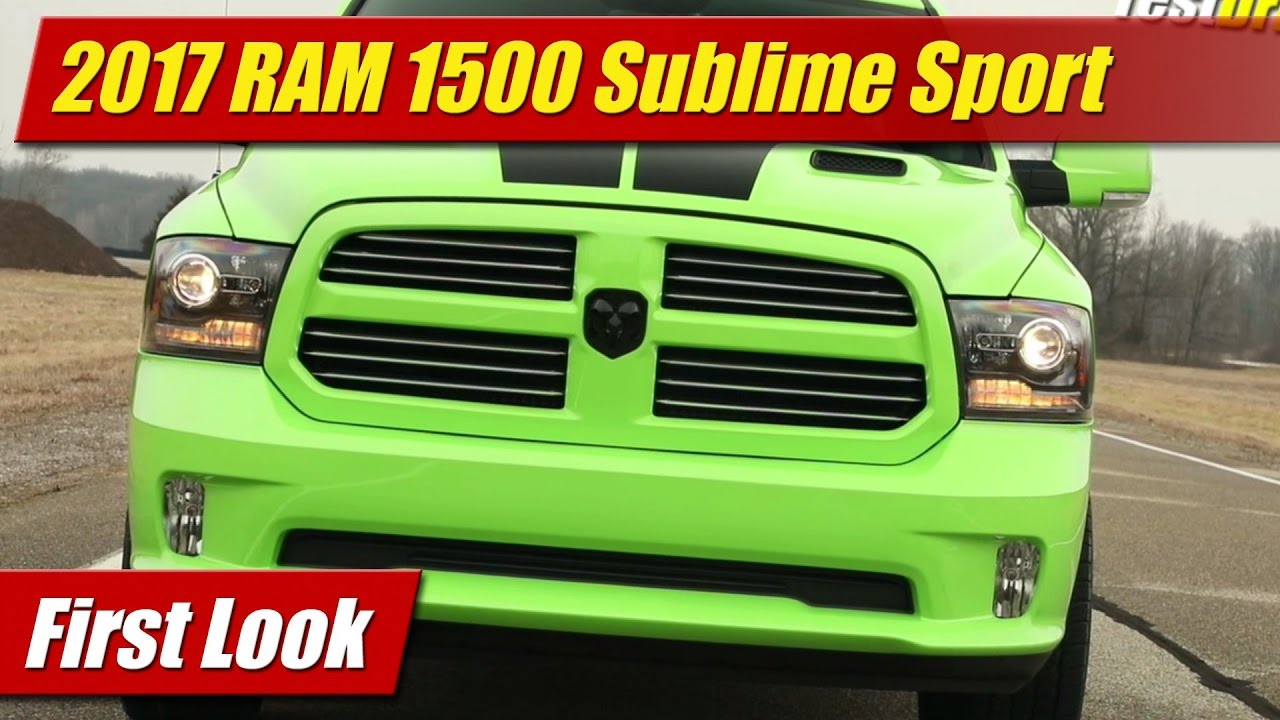 Awesome First Look 2017 RAM 1500 Sublime Sport  TestDrivenTV