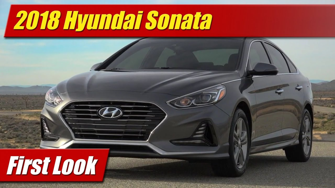 first look 2018 hyundai sonata testdriven tv. Black Bedroom Furniture Sets. Home Design Ideas