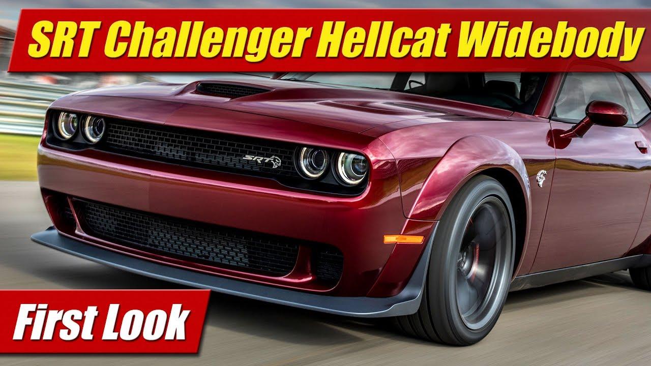 Elegant First Look 2018 Dodge Challenger SRT Hellcat Widebody