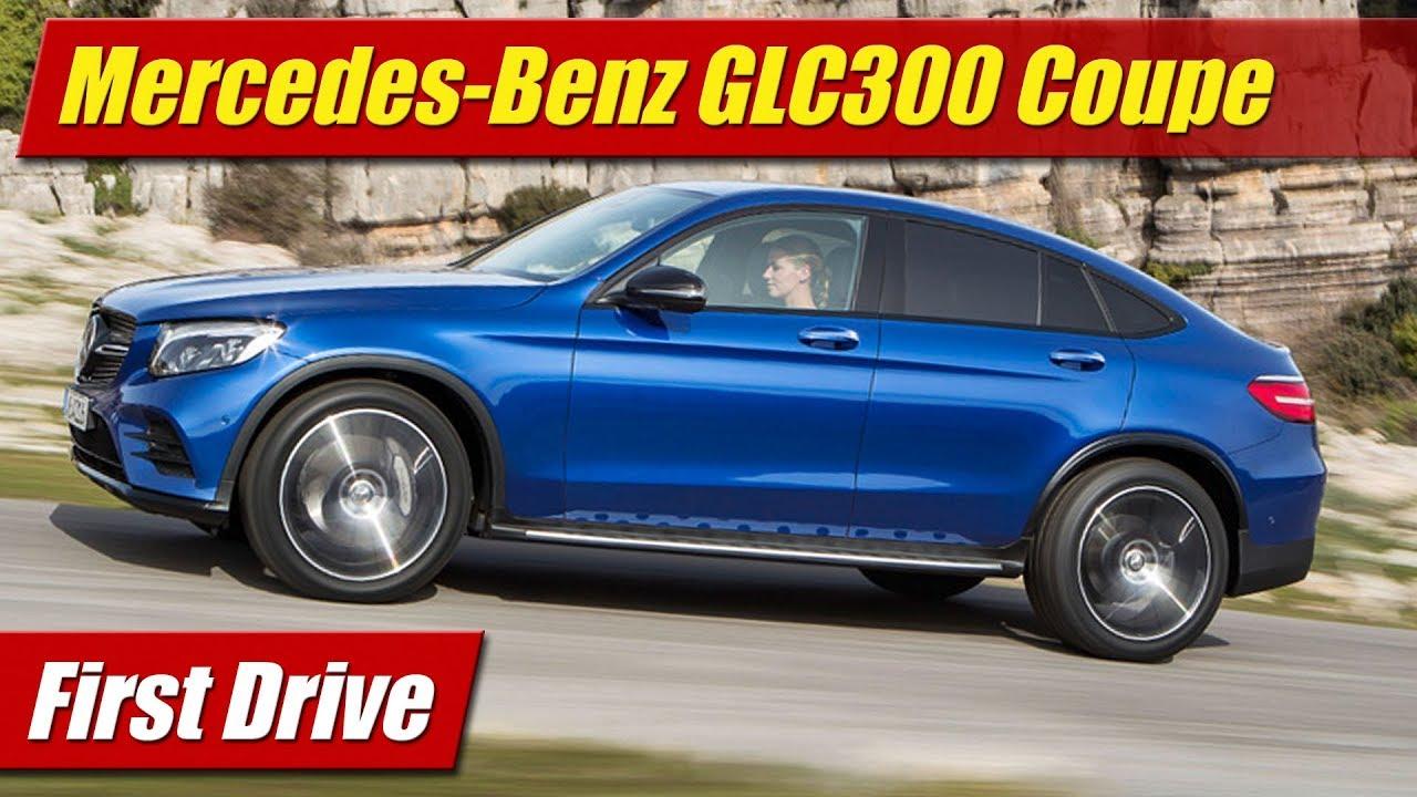 first drive 2017 mercedes benz glc300 4matic coupe testdriven tv. Black Bedroom Furniture Sets. Home Design Ideas
