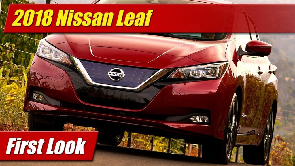 first look 2018 nissan leaf testdriven tv. Black Bedroom Furniture Sets. Home Design Ideas