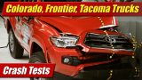 IIHS Crash Test: Chevrolet Colorado, GMC Canyon, Nissan Frontier, Toyota Tacoma