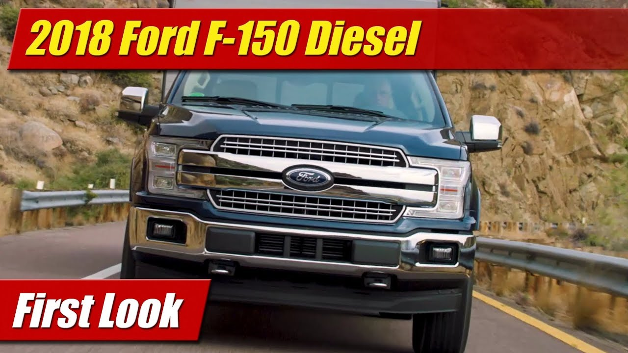 first look 2018 ford f 150 diesel testdriven tv. Black Bedroom Furniture Sets. Home Design Ideas