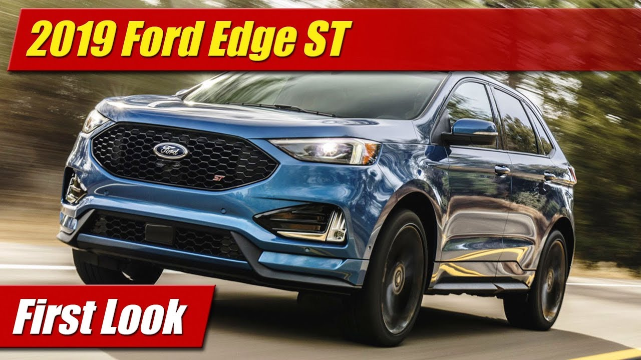 first look 2019 ford edge st testdriven tv. Black Bedroom Furniture Sets. Home Design Ideas