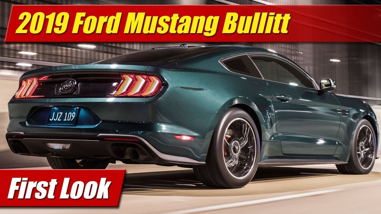 first look 2019 mustang bullitt testdriven tv. Black Bedroom Furniture Sets. Home Design Ideas