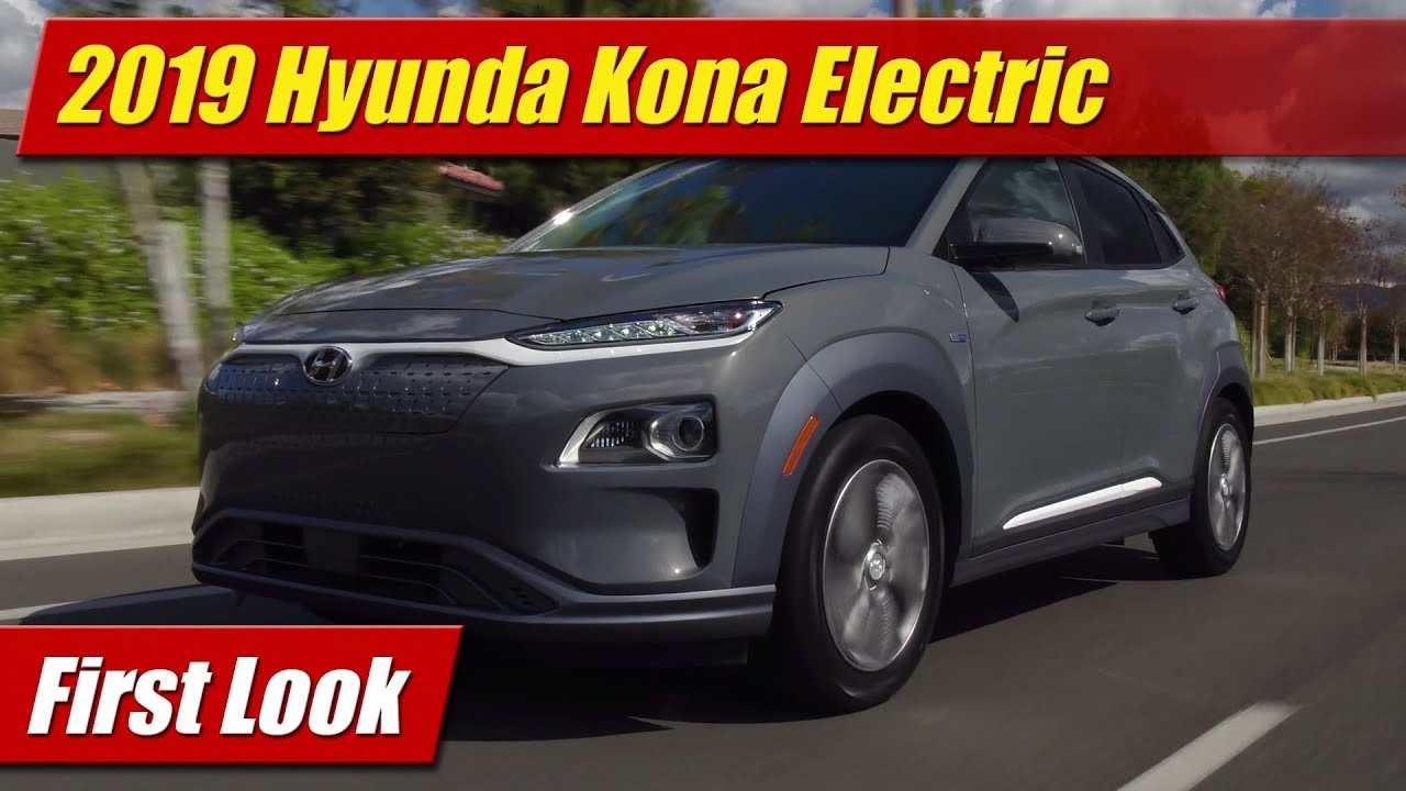 first look 2019 hyundai kona electric testdriven tv. Black Bedroom Furniture Sets. Home Design Ideas