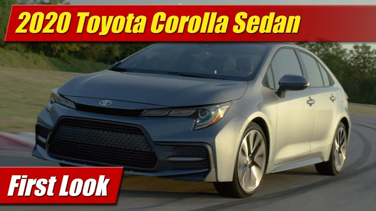First Look: 2020 Toyota Corolla Sedan