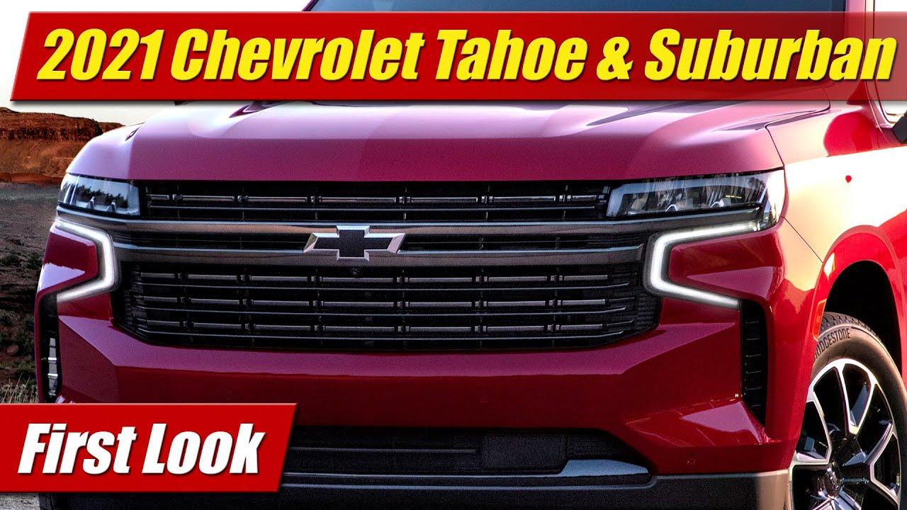 first look  2021 chevrolet tahoe  u0026 suburban