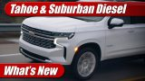 What's New: 2021 Chevrolet Tahoe & Suburban Duramax